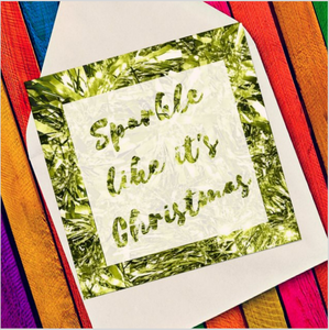 Xmas sparkle gold - Eco Friendly Card