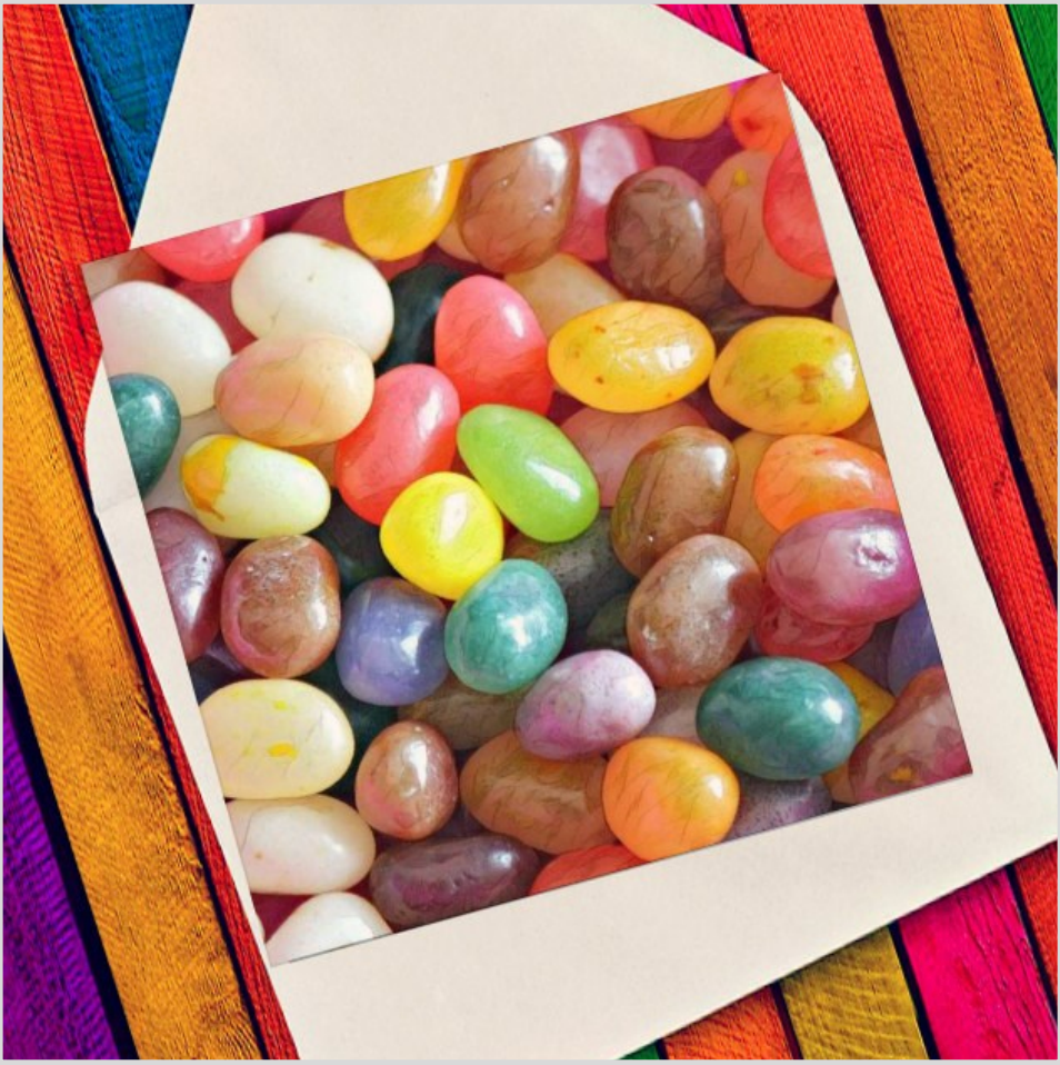 Jelly beans - Eco Friendly Card