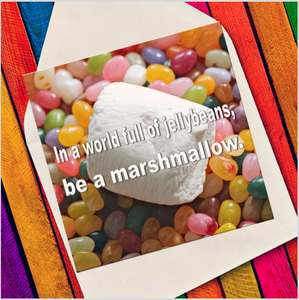 Jellybeans marshmallow - Eco Friendly Card