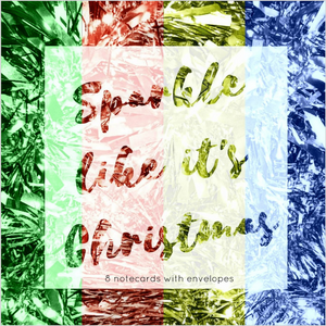 Christmas sparkle collection - Eco Friendly Card