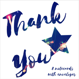 Fireworks thank you notecards - Eco Friendly Card