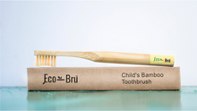 Load image into Gallery viewer, Children's Bamboo Toothbrush Yellow
