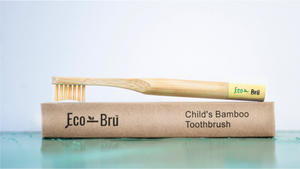 Children's Bamboo Toothbrush Yellow