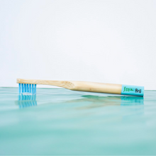 Load image into Gallery viewer, Children's Bamboo Toothbrush Blue