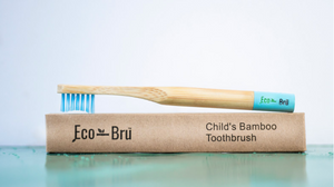 Children's Bamboo Toothbrush Blue