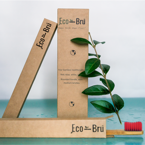 Red Bamboo Toothbrush