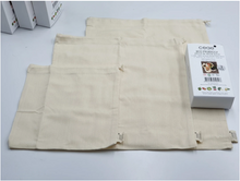Load image into Gallery viewer, 100% ORGANIC COTTON-MUSLIN DRAWSTRING BAGS (3PCS PACK)