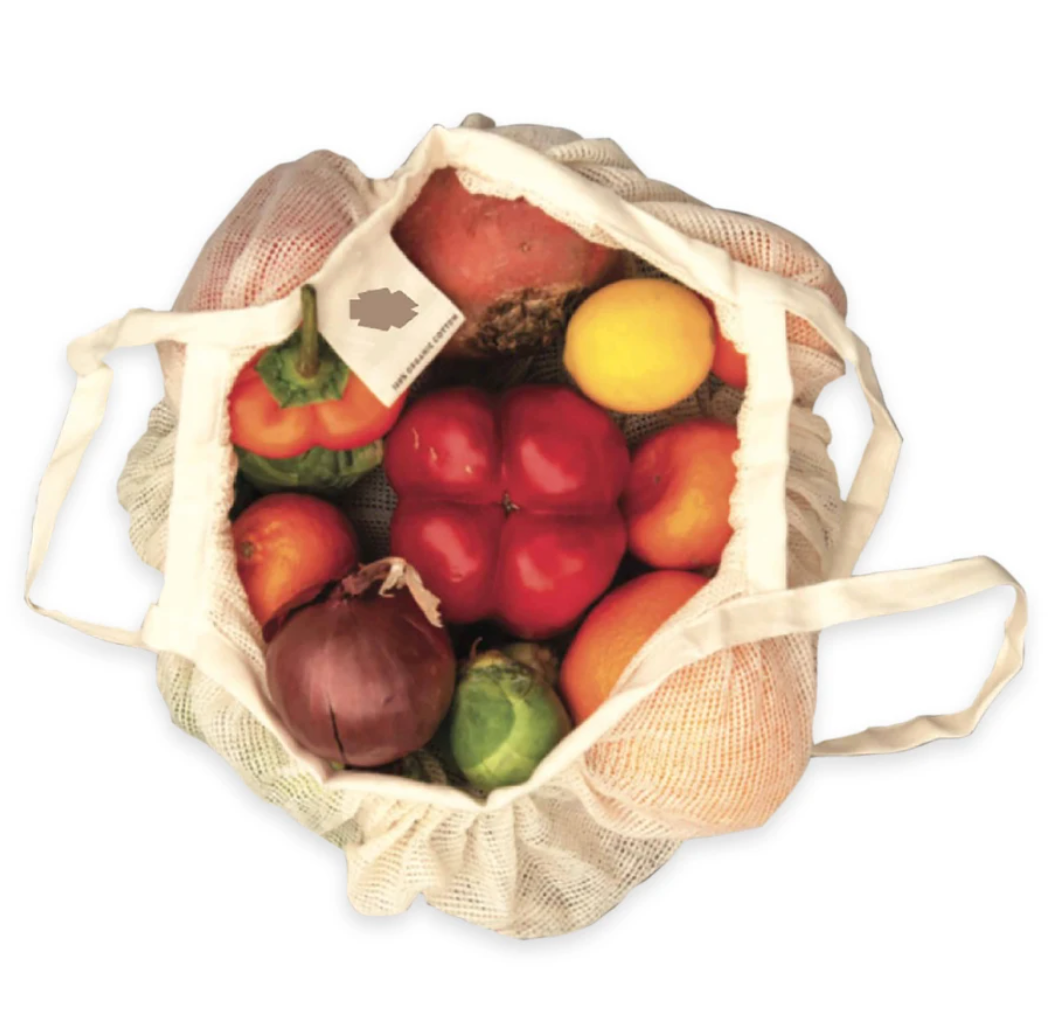 100% ORGANIC COTTON-MINI STRING BAGS (2PCS PACK)
