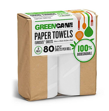 Load image into Gallery viewer, Sugarcane & Bamboo Kitchen Roll