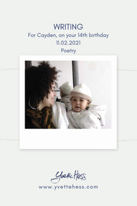 Writing - a birthday poem for Cayden