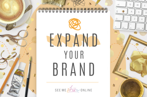 Expand Your Brand- Full Logo, original brand art (website, social media and decor)