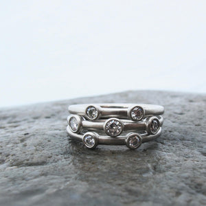 Canadian diamond stacking rings