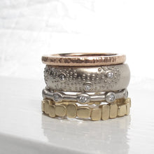 Load image into Gallery viewer, Modern diamond eternity ring, 10 stone bezel eternity band, minimalist stacking diamond band