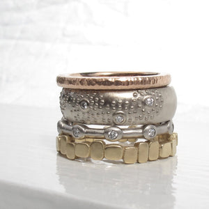 Modern diamond eternity ring, 10 stone bezel eternity band, minimalist stacking diamond band
