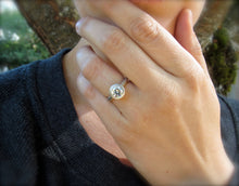 Load image into Gallery viewer, One and a half carat diamond engagement solitaire, platinum setting, GIA certified diamond