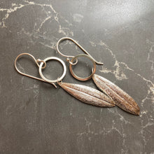 Load image into Gallery viewer, Silver Repoussé Pod Earrings