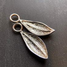 Load image into Gallery viewer, Tiny sterling leaf charm
