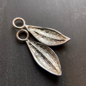 Tiny sterling leaf charm