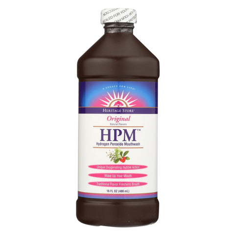 Heritage Products Hpm Hydrogen Peroxide Mouthwash - 16 Fl Oz