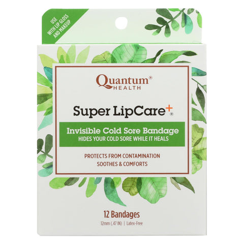 Quantum Research Lipcare Plus Invisible Cold Sore Bandage - 12 Count