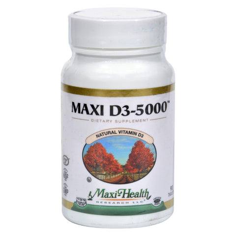 Maxi Health Kosher Vitamins Maxi D3 5000 - 5000 Iu - 90 Tablets