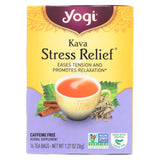 Yogi Kava Stress Relief Herbal Tea Caffeine Free - 16 Bag - Case Of 6