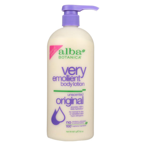Alba Botanica - Very Emollient Body Lotion - Unscented - 32 Fl Oz