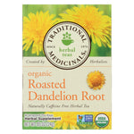 Traditional Medicinals Organic Roasted Dandelion Root Herbal Tea - 16 Tea Bags - Case Of 6
