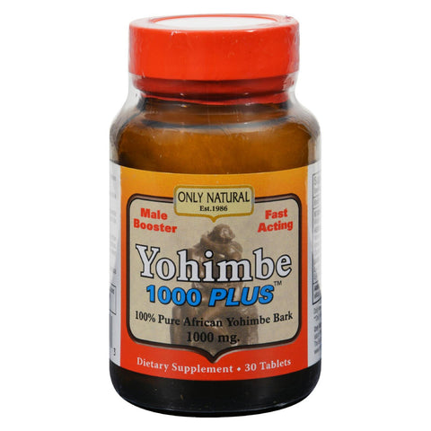 Only Natural Yohimbe 1000 Plus - 30 Tablets