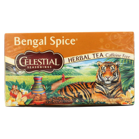 Celestial Seasonings Herbal Tea Caffeine Free Bengal Spice - 20 Tea Bags - Case Of 6