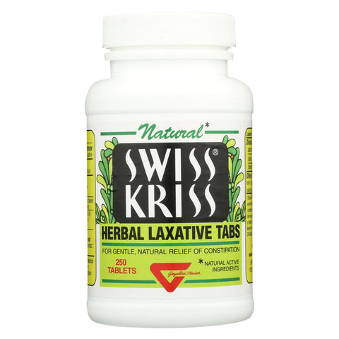 Modern Natural Products Swiss Kriss Herbal Laxative - 250 Tablets