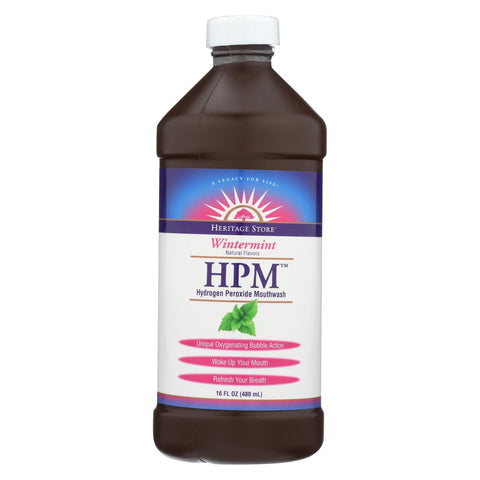 Heritage Products Hpm Hydrogen Peroxide Mouthwash Wintermint - 16 Fl Oz