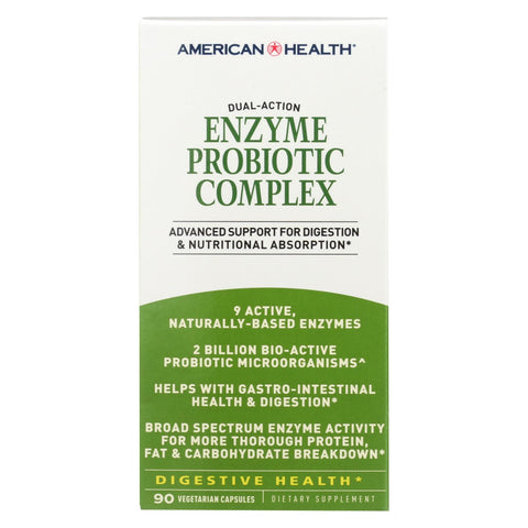 American Health - Enzyme Probiotic Complex - 90 Vegetarian Capsules