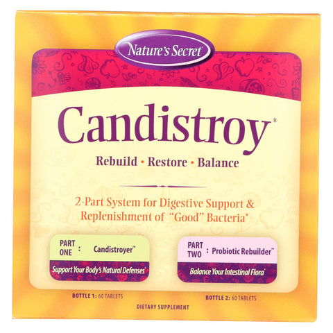 Nature's Secret Candistroy Kit 60 Tablets Each - 120 Tablets