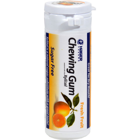 Hager Pharma Xylitol Chewing Gum - Fresh Fruit - 30 Ct - Case Of 6