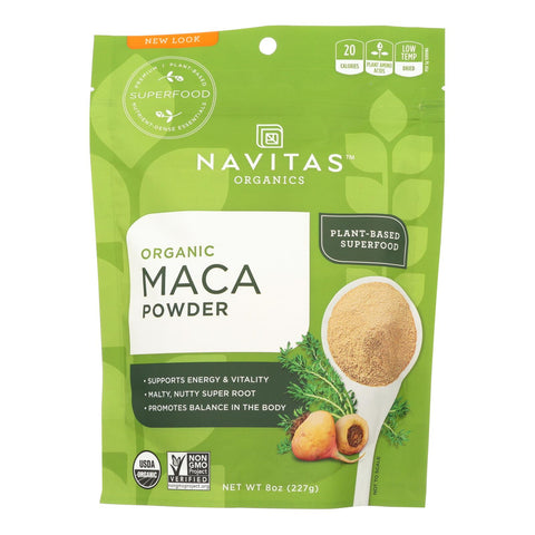 Navitas Naturals Maca Powder - Organic - 8 Oz - Case Of 12
