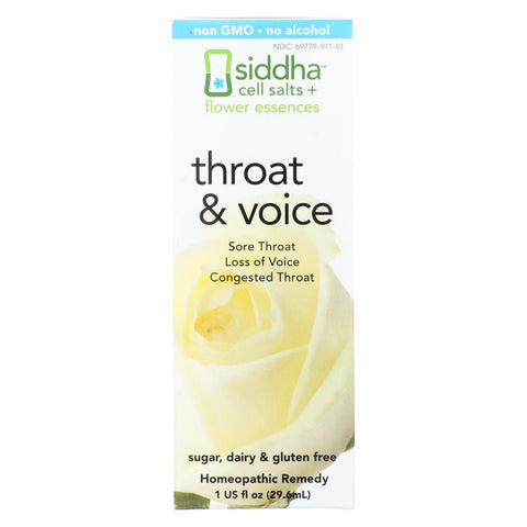 Siddha Flower Essences Throat And Voice - 1 Fl Oz