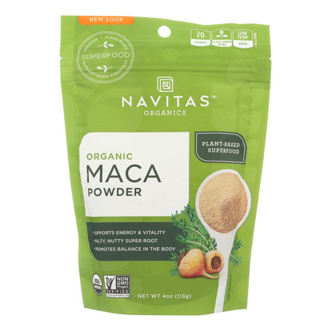 Navitas Naturals Maca Powder - Organic - 4 Oz - Case Of 12