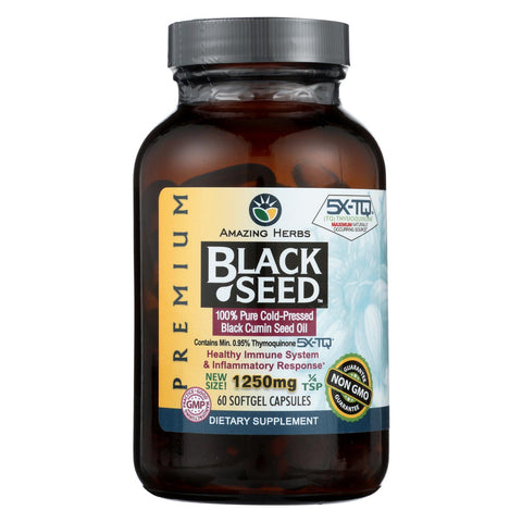 Black Seed Oil - 1250 Mg - 60 Softgel Capsules