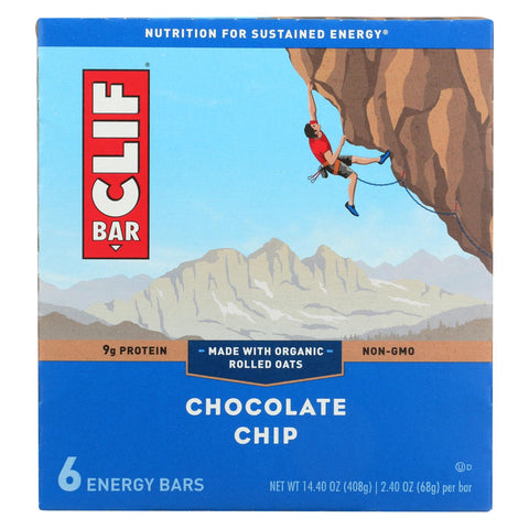 Clif Bar - Energy Bar - Chocolate Chip - Case Of 9 - 6-2.4oz.