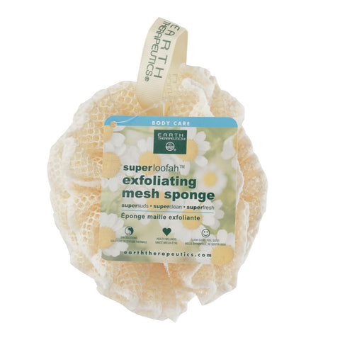 Earth Therapeutics Loofah - Super - Exfoliating - Mesh Sponge - 1 Count