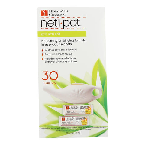 Himalayan Chandra Neti Pot - Eco - With 30 Sachets - 1 Count