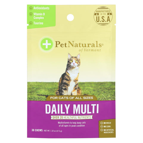 Pet Naturals Of Vermont Daily Multi Cat Chews  - 1 Each - 30 Ct