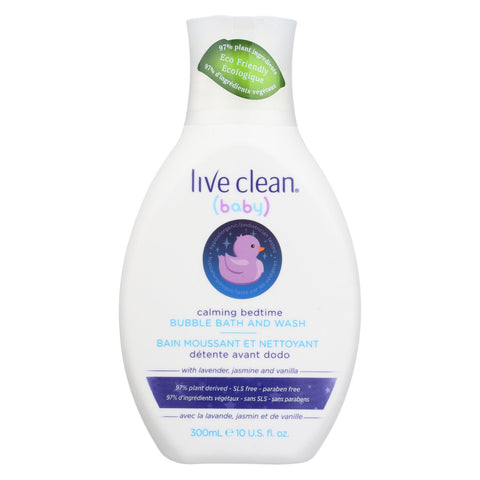 Live Clean Bubble Bath And Wash - Calm- 10 Fl Oz.