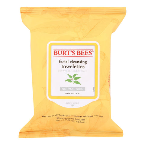 Burts Bees - Face Towelette - White Tea - Case Of 3 - 30 Count