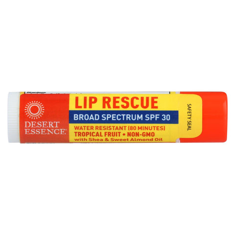 Desert Essence - Lip Balm - Tropical Fruit - Spf30 - Case Of 24 - .15 Oz