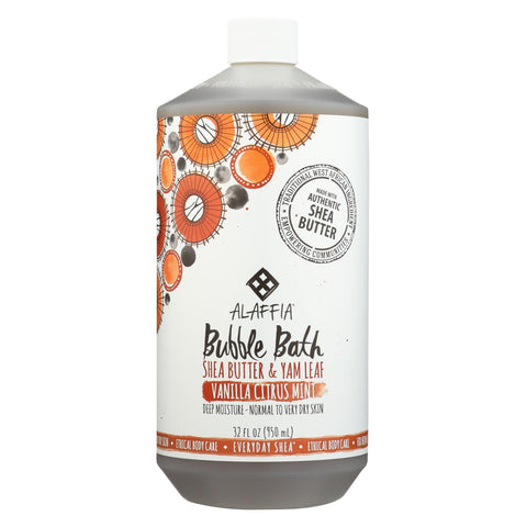 Alaffia - Everyday Bubble Bath - Vanilla Citrus Mint - 32 Fl Oz.
