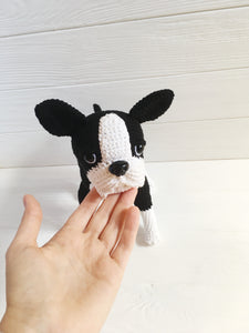 Crochet boston terrier