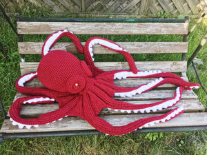 Giant crochet octopus