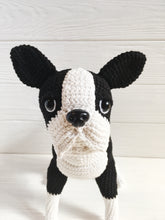 Load image into Gallery viewer, Crochet boston terrier